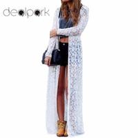 kadın giyim dantel toptan satış-XXXXXL Kadınlar Kabanlar Çiçek Dantel Kimono Artı Boyutu Zarif Plaj Cover Up Hırka Rahat Gevşek Uzun Dantel Bluz Maxi Seksi
