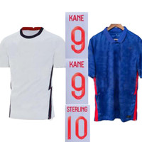 Wholesale england football soccer jersey resale online - Size S XL THAI Quality England KANE Home White Away Blue DELE RASHFORD STERLING Mens soccer jerseys Football Shirt Uniforms
