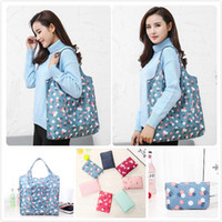 Wholesale waterproof shopping tote for sale - Group buy Durable Foldable Shopping Bags Waterproof Reusable Home Storage Bag Eco Friendly Shopping Bag Tote Bags Colorful Grocery bag