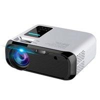 домашние 3d-проекторы оптовых-Мини проектор E500H Android 6,0 Портативный 3D LED проектор LCD Мультимедиа для домашнего кинотеатра USB 720P Proyector Бимер