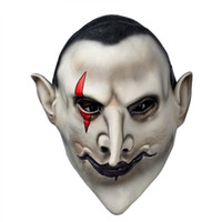 Wholesale terror mask face online - Yeduohorror Devils Latex Scary Mask Earl of Hell Face Vampire Bloodsucker Halloween Masquerade Mascara Terror Cosplay Party Props