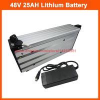 Wholesale lithium battery 48v 25ah resale online - 2000W V Electric bike battery V AH AH rear rack Lithium ion battery INR18650 E mah cell A BMS