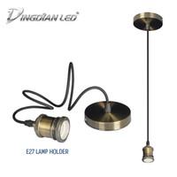 inhaber e11 großhandel-E27 Sockel Edison Lampensockel Pendelleuchten Schrauben Lampensockel Aluminium Leuchte Industrie Retro Lampenfassung Pendelleuchte