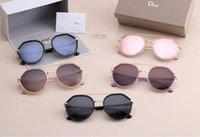 glass ball lens großhandel-10 STÜCKE Hohe Qualität Glaslinse Sonnenbrille farbe linse Spiegel sonnenbrille pilot männer sonnenbrille Marke Designer Frau gläser mit Original fällen