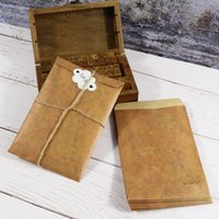Wholesale stationery envelopes letter paper set resale online - Envelope Vintage Paper Bags Sticker and Cord Include Stationery Set Gift Card Post Card Photo Letter Storage Envelopes