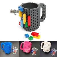 Wholesale white building blocks resale online - Building Blocks Mugs DIY Creative Drink Coffee Cup Men Women Children Personalized Decompression Water Cup Free Ship WX C13