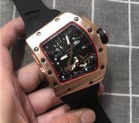 ingrosso orologio militare automatico al quarzo-Orologio da uomo di fascia alta in vendita calda cinturino in caucciù grande marchio di marca orologio al quarzo orologio militare classico data automatica orologi di lusso