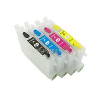 chips cartucho compatível venda por atacado-UP 2 conjuntos cartucho de tinta Recarregável T0601 compatível para STYLUS C88 CX3800 CX3810 CX4800 CX5800F CX7800 com AUTO RESET CHIP