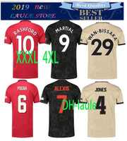 Wholesale thailand soccer kits for sale - Group buy XXL XL XL Thailand POGBA LINGARD JAMES manchester soccer united jerseys utd martial RASHFORD football kit MARTIAL jersey