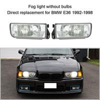 bmw luz de niebla diurna al por mayor-Envío gratuito Car-styling Luz antiniebla delantera para BMW E36 1992-1998 H1 Base sin bombillas Detectores de automóviles Faros Lámpara de lentes Luces diurnas
