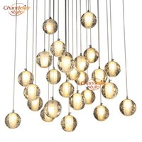 Wholesale hanging crystal ball chandelier for sale - Group buy Modern Crystal Chandelier Lighting LED Pendant Hanging Light Orb Crystal Ball Chandeliers Stair Cristal Chandelier Home Lighting