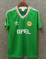 dünya kupası futbol setleri toptan satış-beyaz yeşil 1990 1992 İrlanda RETRO futbol forması futbol forması İrlanda Cumhuriyeti Milli Takımı Formalar 90 Dünya kupası futbol takımı