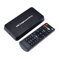 xbox karten großhandel-ezcap295 HD 1080P Videospiel-Aufzeichnungsgerät USB 2.0-Wiedergabekarten mit Fernbedienung Für Xbox 360 Xbox One PS4-Set-Top-Box