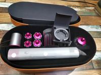 secador de pelo eléctrico envío gratis al por mayor-Top DYS salón profesional del bigudí de pelo de múltiples funciones de Estilismo Dispositivo automático Tenaza 8 Cabeza Caja de regalo para el pelo Normal Áspero