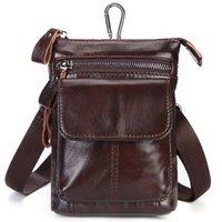 Wholesale designer fanny pack mens for sale - Group buy Genuine Leather Waist Hip Bags Packs Multifunction Mens Fanny Pack Belt Bag Phone Pouch Travel Waist Pack Colors