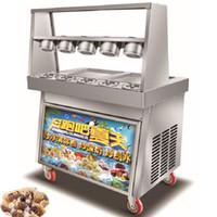 máquinas de sorvete usadas venda por atacado-BEIJAMEI Commercial usar Ice Cream Rolls Máquina Tailândia Fry Rolls Ice Cream Maker, Máquina de Plano Frigideira Ice Cream