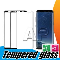 glasschutz für handy großhandel-NEUE 3D gebogene Rand-Hartglas-Handy-Schutz 9H Härte-Schirm-Schutz für Samsung-Galaxie S10 s9 plus Rand s7 alles Telefon