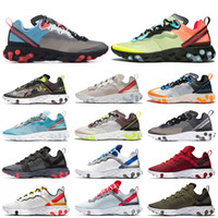 sapatas running do camo venda por atacado-nike Epic React Element 87 UNDERCOVER Mens Running Shoes Antracite Trovão Azul Midnight Marinha Verde Névoa Das Mulheres Esportes Sneakers 36-45