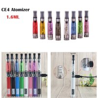 Wholesale ego t long wick resale online - CE4 Atomizer EGO Clearomizer ce4 Electronic Cigarette Clearomizer With Long Wick ml Adapter All Ego t ego CE5 CE6 Clearomizer