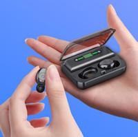 bluetooth auto lcd al por mayor-BTH-230 TWS Bluetooth5.0 Multifunción Power bank Pantalla LCD Toque Auto Emparejamiento Auriculares inalámbricos para auriculares para teléfono