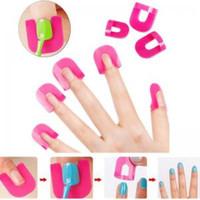herramienta de molde de uñas al por mayor-Manicura resistente a derrames cubierta del dedo popular creativo 26 unids / set moldes de esmalte de uñas herramienta de arte de uñas especial WWA122