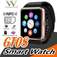ingrosso guarda iphone sync-Gt08 Bluetooth Smart Watch per Apple iPhone IOS Telefono Android Supporto per polso da polso Sincronizzazione smart card Sim card Disponibile