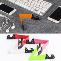 Wholesale foldable phone holder stand online – Colorful Folda V Shaped Universal Foldable Mobile Cell Phone Stand Holder Portable Tablet PC Foldable Pad Phone Mobile Hands Holder Stand