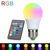 Wholesale ampoule led 3w resale online - LED RGB Bulb RGB LED Bulb E27 LED Lamp light W W Color V V bombillas Light Control Dimmable ampoule for room