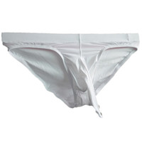 penis xxl venda por atacado-M-XXL Translúcido Sexy Mens Pênis Underwear Ice Silk Ultra-fino dos homens Elefante Nariz Briefs Jockstrap Gay Cueca