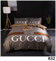 Wholesale new bedding styles for sale - Group buy Branded Letter Print Warm Soft Cotton Bedding Sets Designer New Household Bedroom Cotton Home Bedding Sheet Pillowcase Cover