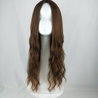 ingrosso parrucche testa-Vendite dirette del produttore Ladies Long Curly Corn Perm Foreign Trade European and American Wigs Full-head Batch Discovery