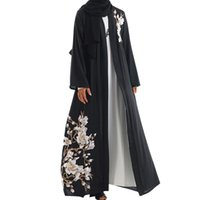 ближневосточная одежда оптовых-abaya turkish women clothing muslim dress Arab Middle Eastern Women's Necklace Long Sleeve Robe Dress kaftan for women#G9+1