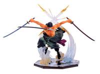 ingrosso figurina pvc di un pezzo-Anime ONE PIECE Raccogliere Figurine Roronoa Zoro la spada in pvc Modello Figure Giocattoli modello amante regalo dei bambini