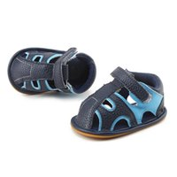 Wholesale boys closed toe sandals resale online - Summer PU Baby Sandals Newborn Casual Soft Shoes Kids Shoes Closed Toe Toddler Boys Sandals Baby Boys