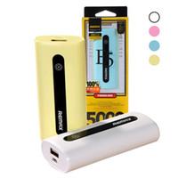 remax power bank charger venda por atacado-5000 mah remax E5 banco de potência carregador de bateria externa para iphone android tablet pc transporte rápido