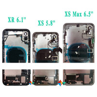 For iphone x Xs Max Back Middle Frame Chassis Full Housing Assembly Battery Cover Door Rear with Flex Cable+ Free DHL