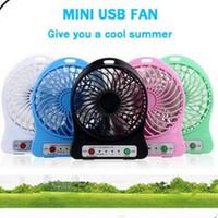 refrigeración de escritorio al por mayor-Ventilador de copo de nieve Mini USB de carga Aire Enfriador 3 Modo Velocidad portátil de escritorio