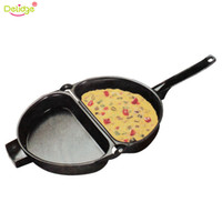 Wholesale omelette tools for sale - Group buy Delidge Pc cm Portable Non Stick Omelette Folding Pot Stainless Iron Double Side Grill Pan Home Breakfast Production Tools
