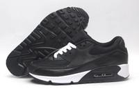 ingrosso allenatore scarpe-Nike air max 90 Scarpe casual da uomo classiche da uomo e da donna scarpe di marca nero rosso bianco cuscino d'aria per l'allenatore scarpe traspiranti 36-45