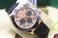 paslanmaz çelik kronograf saat tedarikçileri toptan satış-Fabrika Tedarikçisi Lüks AAA 116719 Paslanmaz Çelik Safir 40mm siyah Seramik Çerçeve Otomatik Mekanik Mens Watch Saatler Hiçbir Chronograph