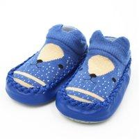 ingrosso calzini sollevati da bambino-2019 primavera neonato calzini antiscivolo calzini bambino con suole in gomma Baby Girl carino calcetines suola morbida calzino scarpe