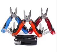 faltmesser multi-tool großhandel-Multifunktions-Faltzange tragbare Mini-Edelstahl-Tasche Faltzange Tool Kit Outdoor Universal-Werkzeug Taschenmesser Handwerkzeuge