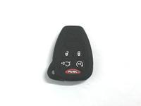 llaves de sílice al por mayor-Pimall 5 botones Gel de sílice / estilo de cuerda de cuero de silicona Smart Key Cover Funda para Patriot Wrangler Compass Jeep disponible