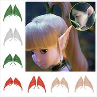 máscara de vampiro de látex venda por atacado-Orelha fluorescente Máscara Fada Cosplay Acessórios vampiro Halloween Party Para Latex suave 10 centímetros da orelha falsa e 12 centímetros