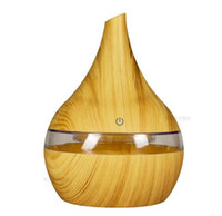 ingrosso umidificatori di aroma-Nuovo 300 ml USB Aroma elettrico Diffusore d'aria in legno Umidificatore ad ultrasuoni olio essenziale Aromaterapia produttore di nebbia fredda per la casa spedizione gratuita