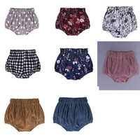Wholesale baby pants diapers resale online - INS Baby lattice Floral Dot Shorts Toddler PP Pants Boys girls Bread Pants Girls Summer Bloomers Infant Briefs Diaper Cover Underpants dc45