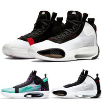 Wholesale cycling shoes 12 resale online - 2020 New arrival Air Retro jordan Men basketball shoes XXXIV Blue Void Bred white red trainers Athletic sports sneaker size