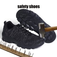 наружные защитные туфли оптовых-Man Work Safety Shoes For Men Outdoor Footwear  Combat Ankle Boots Indestructible Rubber Shoes Woman Sneakers Breathable
