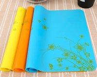 силиконовые маты для выпечки оптовых-Food Grade силиконовые коврики цветов печати выпечки вкладыша Силиконовые печь мат Теплоизоляция коврик стол коврик