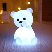 Wholesale ce soft toys for sale - Group buy Soft silicone lamp children s toys cute led cartoon animal decoration bedroom protection eyes Mini night light portable sleep